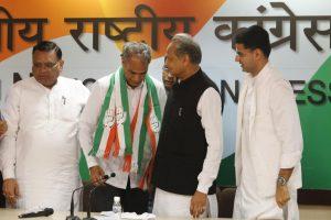 Rajasthan: BJP Dausa MP Hareesh Meena joins Congress