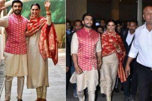 Newlyweds Deepika Padukone, Ranveer Singh mobbed at Mumbai airport