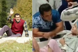 Watch| Salman Khan fulfils dream of little boy suffering from cancer