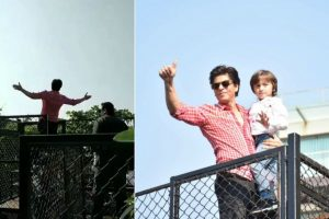 On 53rd birthday, Shah Rukh Khan greets fans with his signature pose