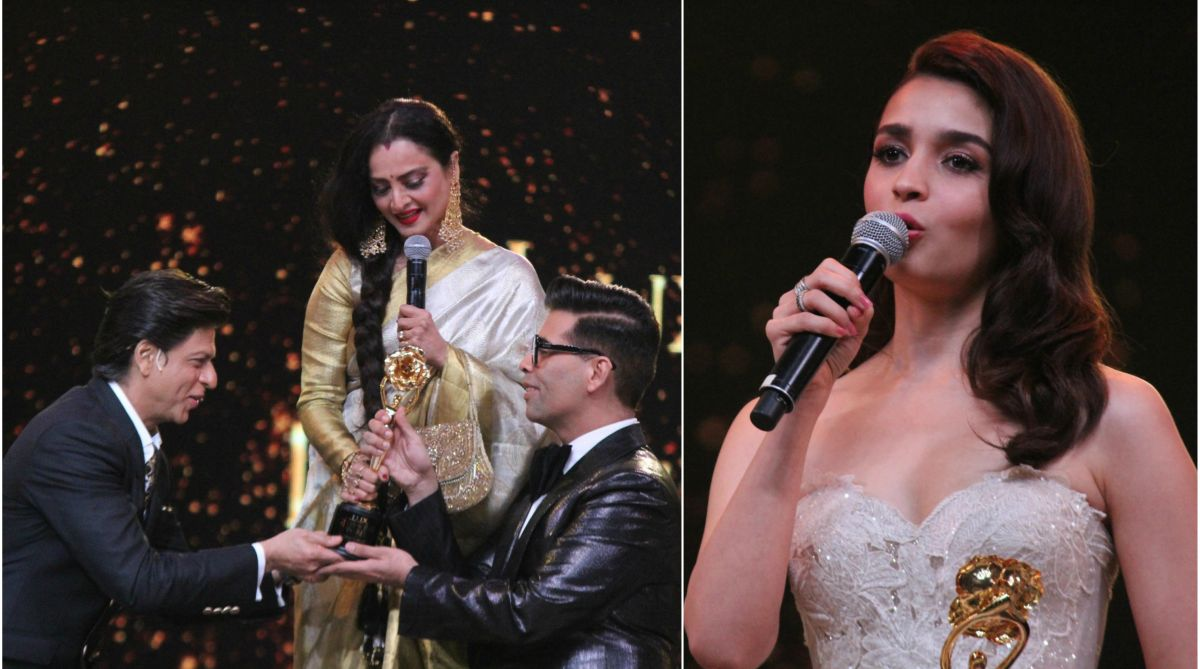 Shah Rukh Khan, Karan Johar, Rekha, Alia Bhatt, Lux Golden Rose Awards