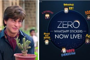Shah Rukh Khan comes to you phone as 'Zero' Bauua WhatsApp sticker