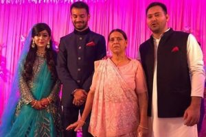 Tej Pratap in Delhi for brother Tejashwi's birthday