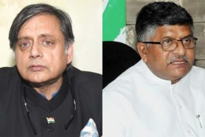Ravi Shankar Prasad calls Shashi Tharoor 'murder accused', gets legal notice