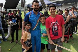 Virat Kohli spends time with kids on Children's Day