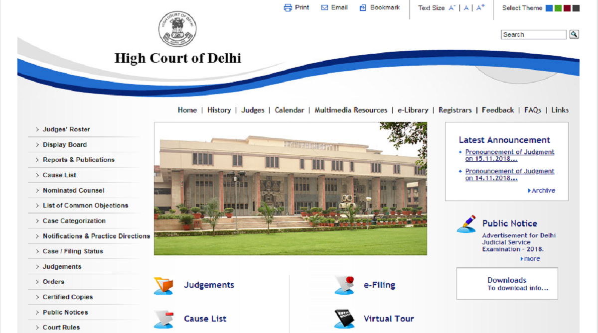 Delhi High Court, Delhi Judicial Services examination 2018