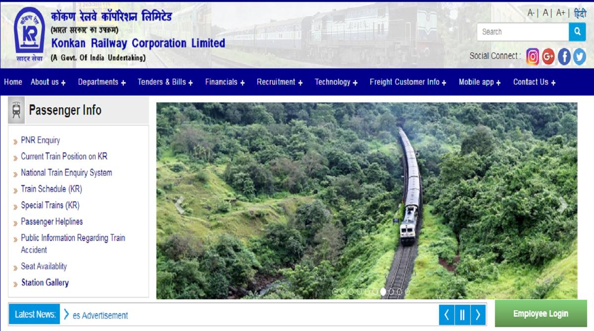KRCL recruitment 2018, Konkan Railway Corporation Limited