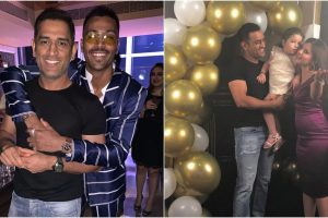Watch | MS Dhoni celebrates wife Sakshi's birthday with Hardik Pandya