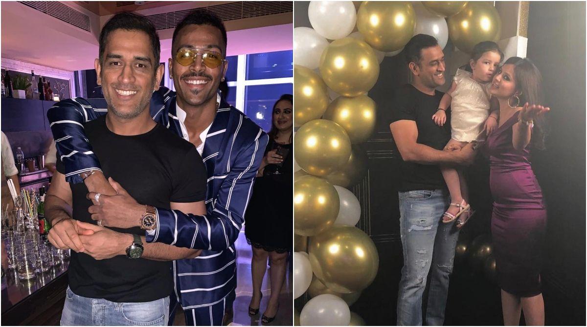 Watch | MS Dhoni celebrates wife Sakshi's birthday with Hardik Pandya