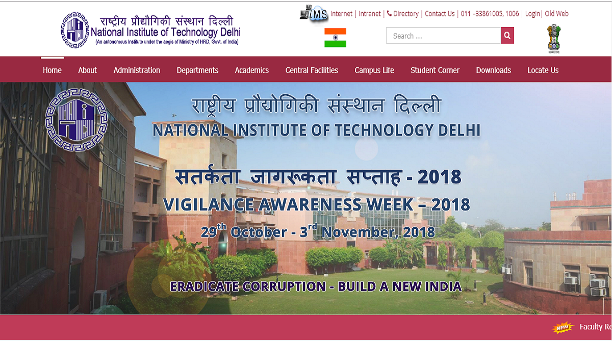 NIT Delhi recruitment 2018, National Institute of Technology