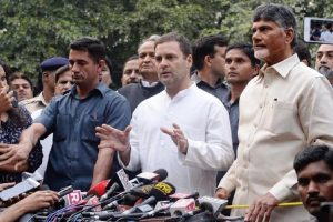 Not getting into past; present and future are critical for country: Rahul Gandhi after meeting Naidu