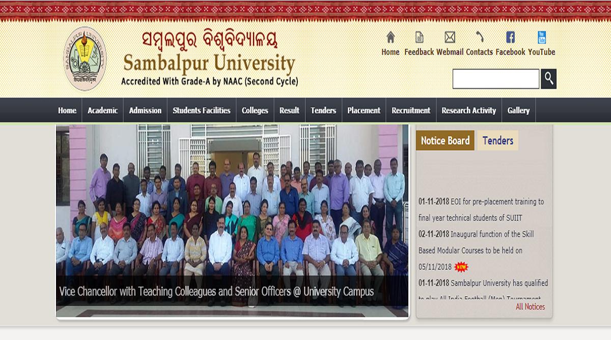 Sambalpur University declares +3 second year results | Check