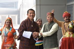 Bhutan PM Lotay Tshering arrives for talks with Modi