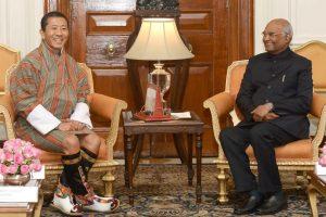 Bhutanese PM Lotay Tshering calls on President Kovind