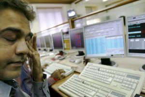 Sensex plunges 500 points as votes are counted in 5 states, Nifty below 10,400; Rupee falls