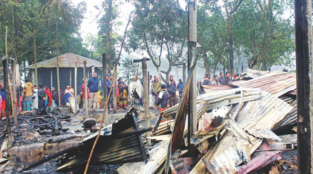 Hindu houses gutted, arson attack, Bangladesh elections, Thakurgaon, religious minorities, RAB