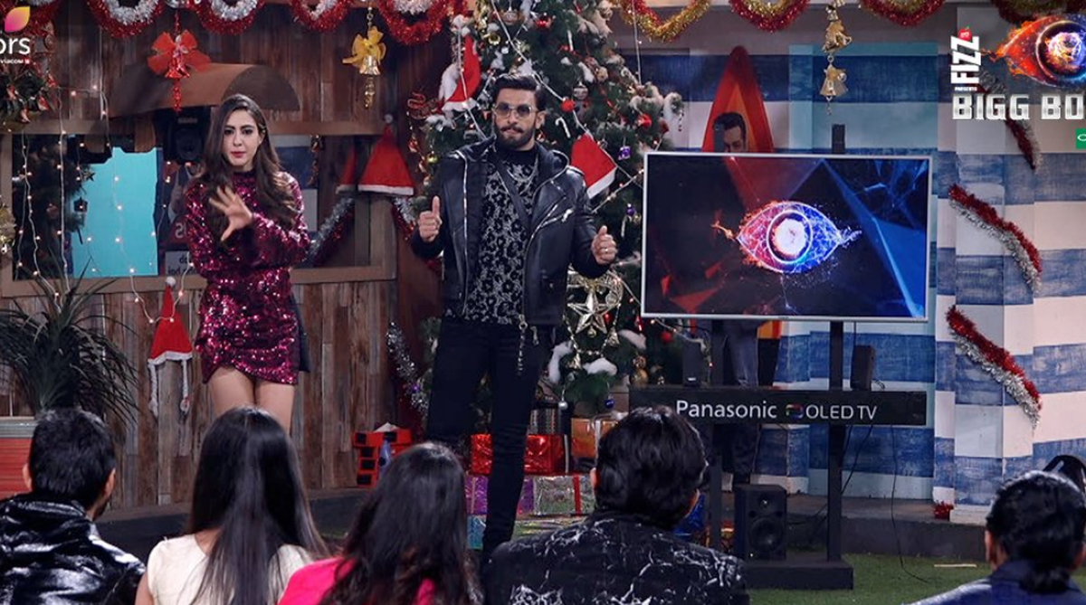 Bigg Boss 12, Day 98, December 23: Ranveer Singh, Sara Ali Khan hit with the contestants