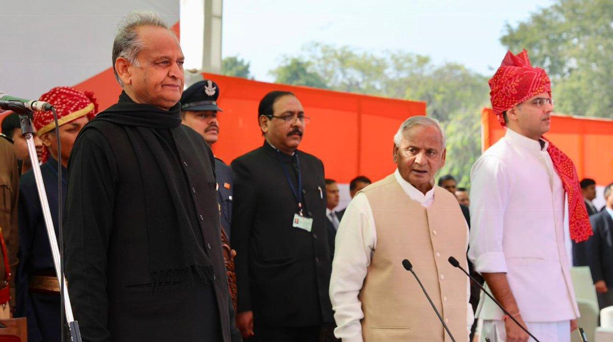 Ashok Gehlot, Rajasthan Chief Minister, Sachin Pilot, Rajasthan Deputy Chief Minister