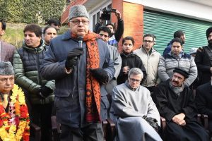 Farooq pitches for elected government; expresses grief over Pulwama killings