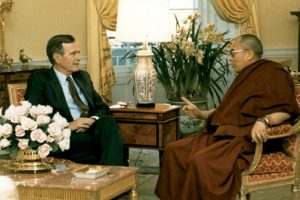 Dalai Lama condoles death of ex US President George HW Bush, writes to Bush Jr