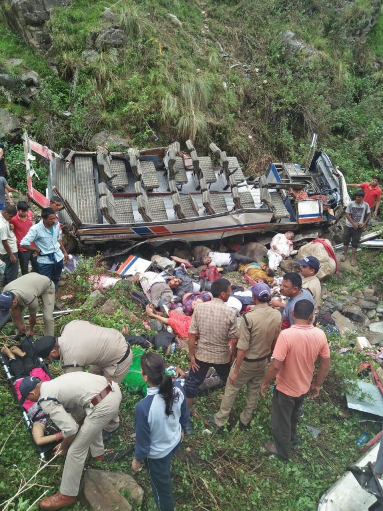 Uttarakhand in 2018, Bus accident at Dhumakot, Trivendra Singh Rawat, Samachar Plus News Channel, Harish Rawat, Atal Ayushman Uttarakhand Yojna, Narayan Dutt Tiwari, Swami Gyan Swaroop, Badrinath, Kedarnath, Prime Minister Narendra Modi