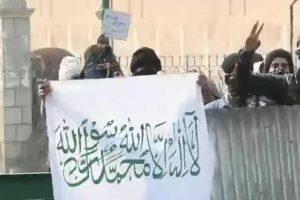 ISIS flags at Jamia Masjid in Srinagar spark tension