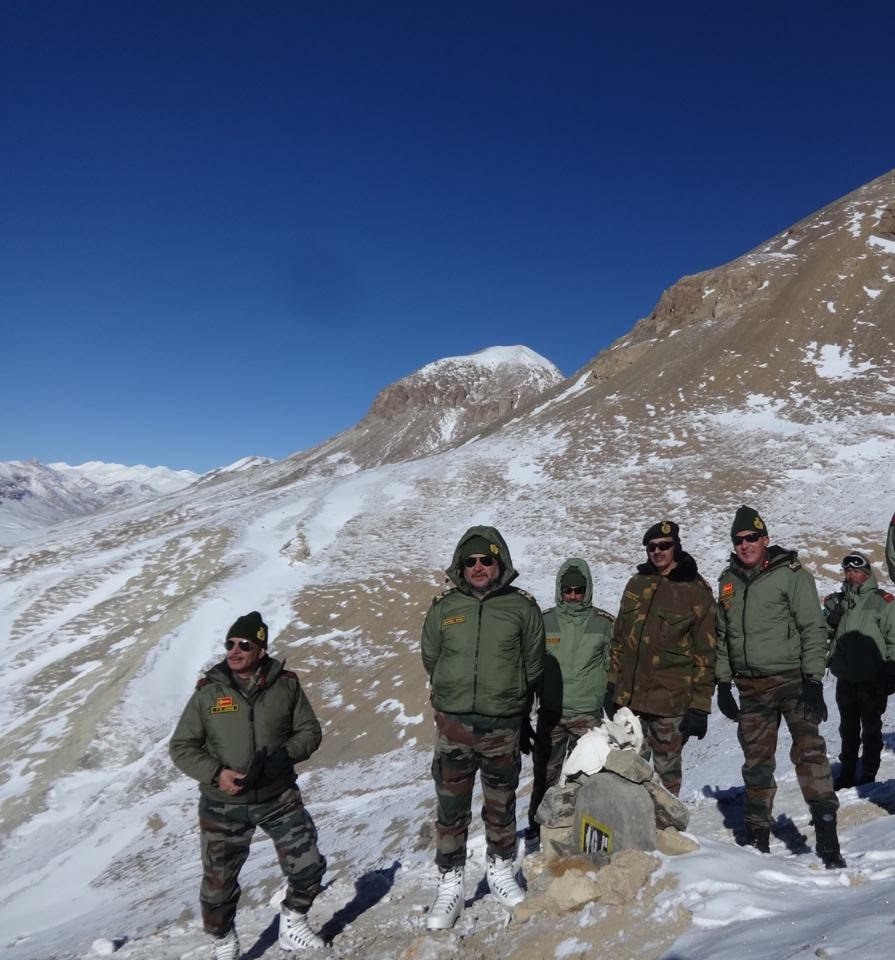 General Officer Commanding-in-Chief visits Karakoram Pass along Indo-China border