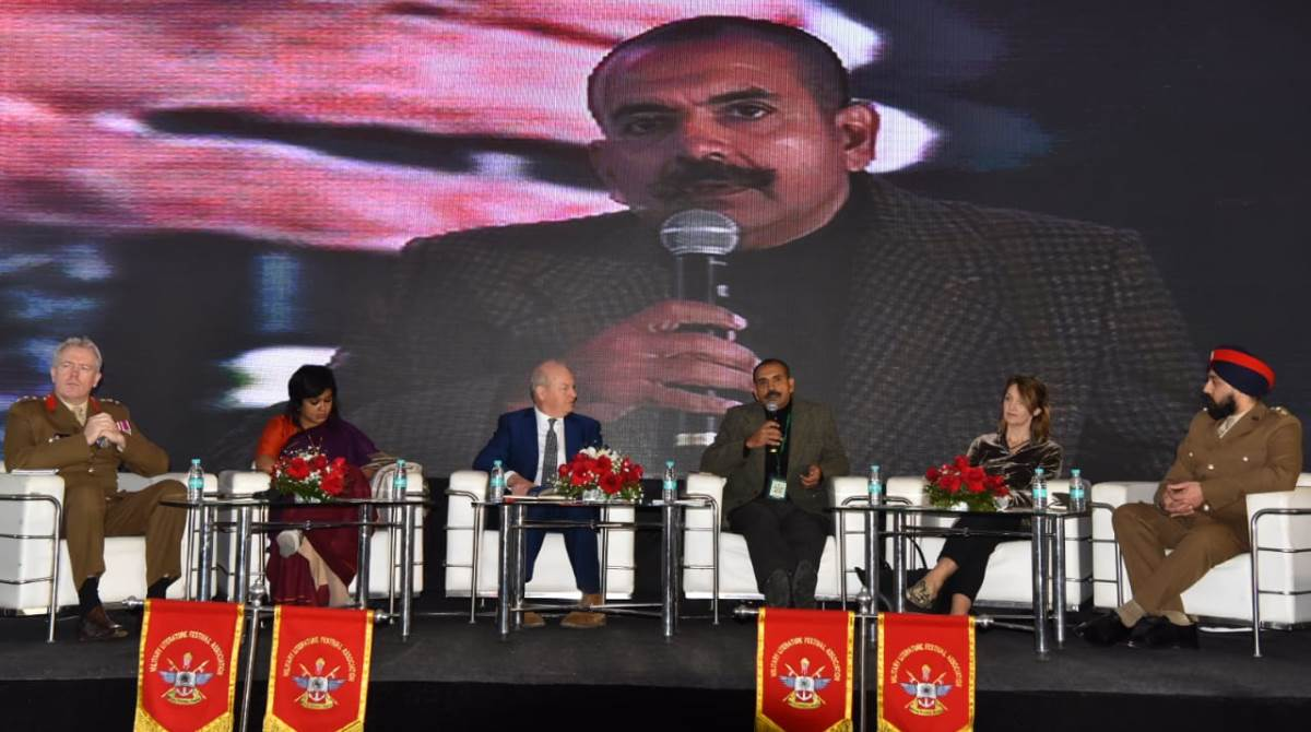 Panellists, Military Literature Festival, Media coverage, defence forces
