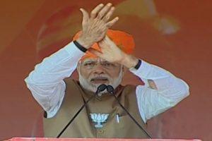 PM Modi responds to Rahul Gandhi's Bharat Mata ki Jai jibe with Bharat Mata ki Jai chant
