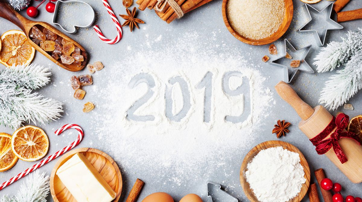 New Year 2019, New Year, Food, Happy New Year