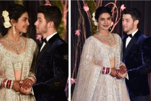 Priyanka Chopra, Nick Jonas look dreamy at their Delhi reception | See videos