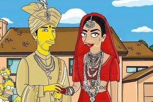 Priyanka Chopra and Nick Jonas's wedding pictures get The Simpsons makeover