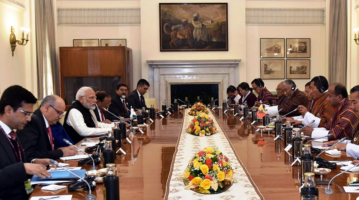 India to contribute to Bhutan's 12th plan, Prime Minister Narendra Modi, Bhutan's 12th five-year plan, Lotay Tshering, Doklam, Mangghe-Descchu project, Bhutan Government, RuPay Cards, India-Bhutan relations, Bhutanese businessmen, Goods and Services Tax, GST, Sushma Swaraj