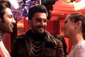 Ranveer Singh plays 'cupid' for Sara Ali Khan and Kartik Aaryan | See video