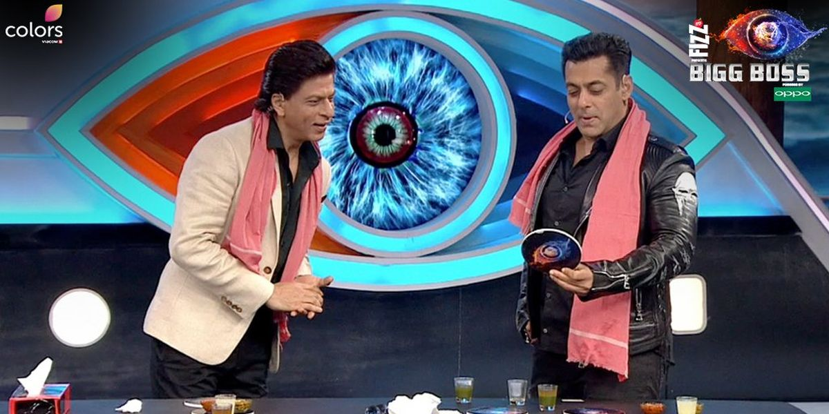 Bigg Boss 12, Day 91, December 16: Shah Rukh Khan and Salman Khan spread their charm