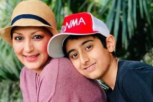 Sonali Bendre excited about first 'mom-son collaboration on book club'