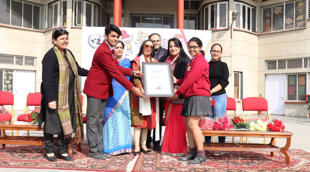 Springdales School, International Day of Persons with Disability, Sonia Rawat,Pramit Rastogi, world book of records