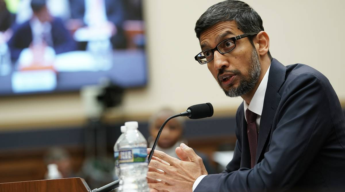 Sunder Pichai, Google, Google search engine, Google search engine in China, Sundar Pichai, Congressional hearing