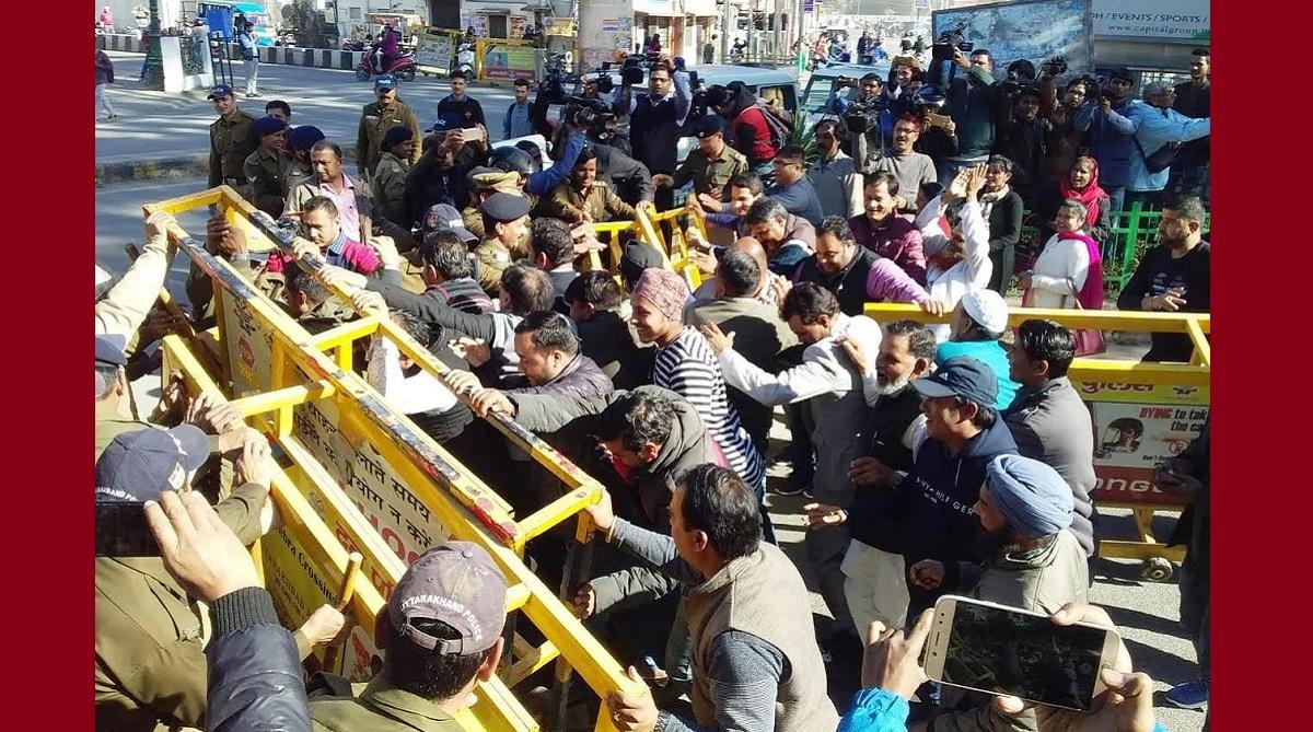 Uttarakhand: BJP members storm Congress office, create ruckus over Rafale