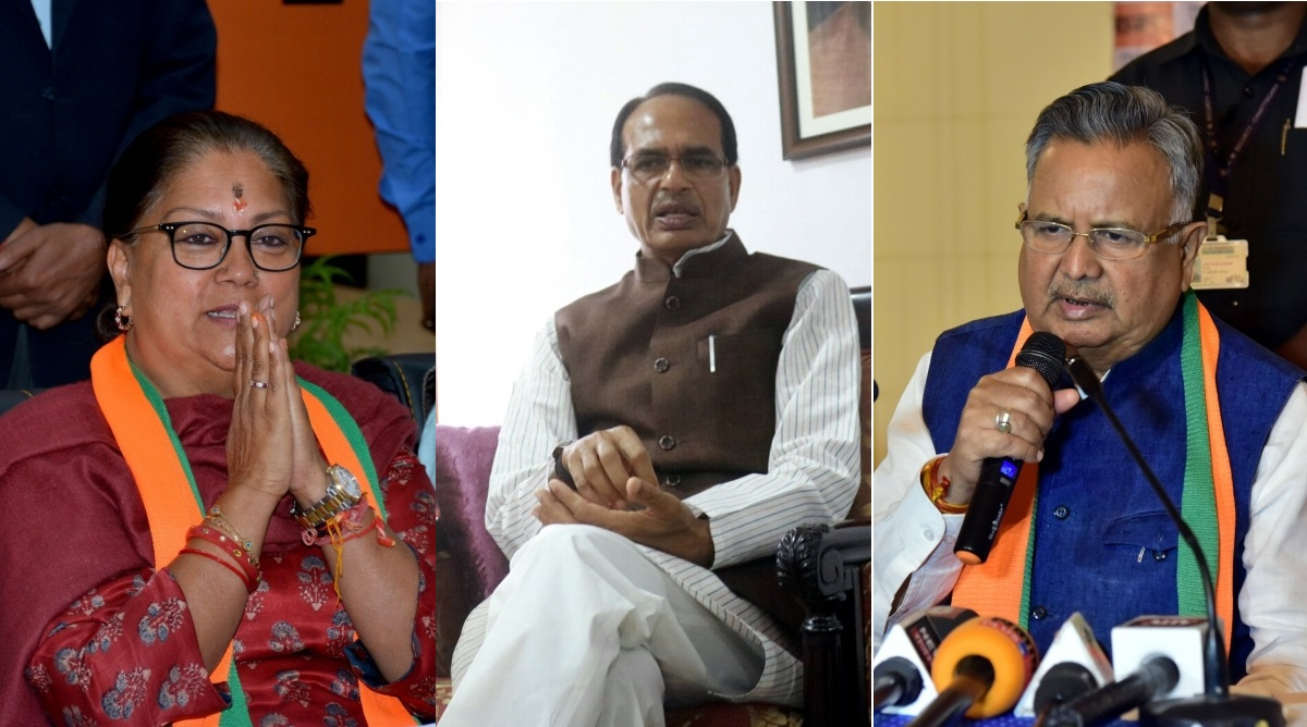 Chief Minister, Rajasthan, Chhattisgarh, Madhya Pradesh, BJP victory, Assembly polls, Assembly Elections 2018