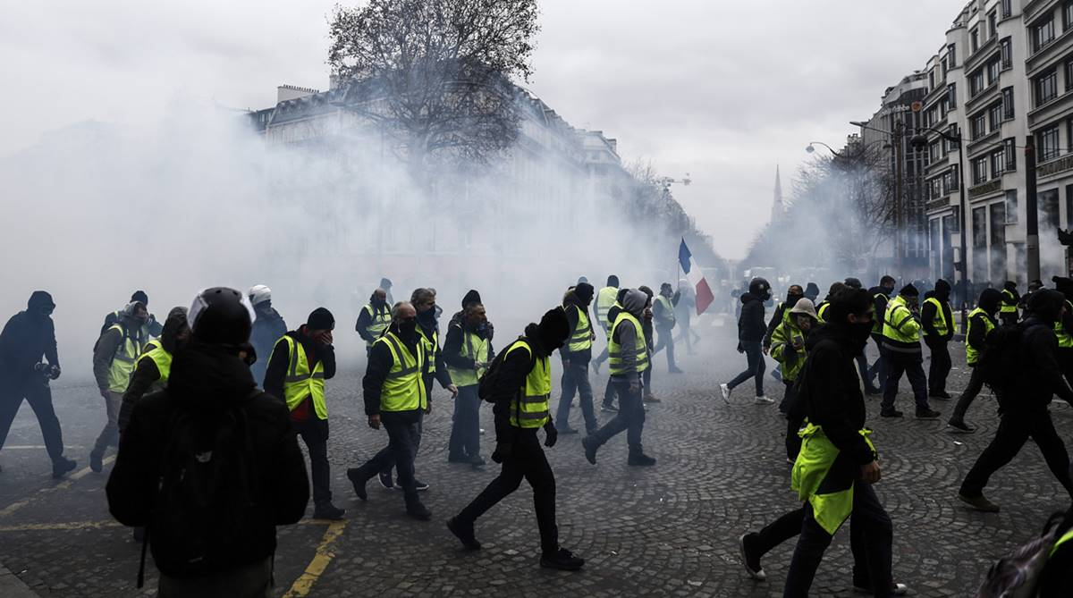 President Emmanuel Macron, Yellow vest protests, Paris, Price rise, Rising fuel prices, Yellow vest, Yellow vest protests, France President Emmanuel Macron, French Prime Minister Edouard Philippe, gilets jaunes,