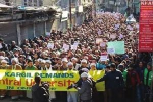Cluster university in Leh triggers agitation