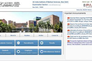 AIIMS Nursing Officer exam postponed | Check all details at www.aiimsexams.org