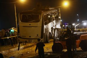 Four killed in bombing of tourist bus near Egypt's pyramids