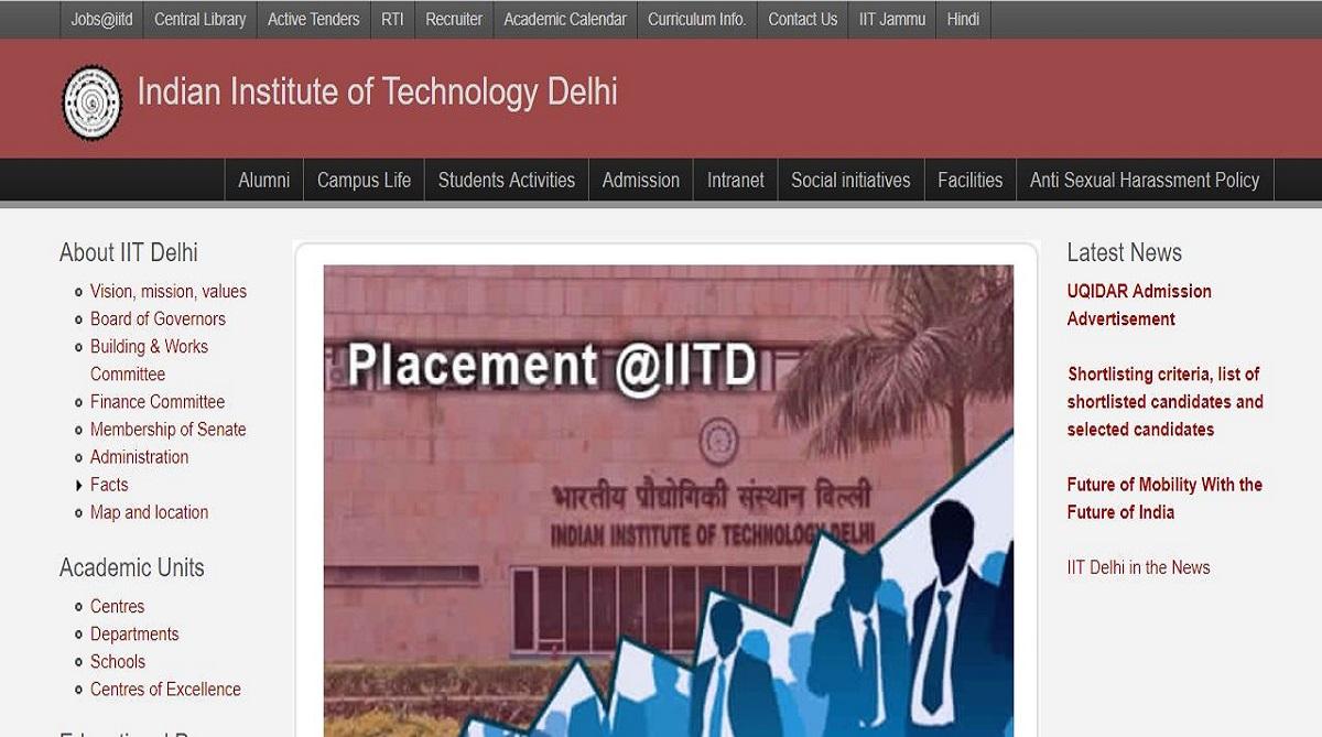 IIT Delhi recruitment 2018, Indian Institute of Technology