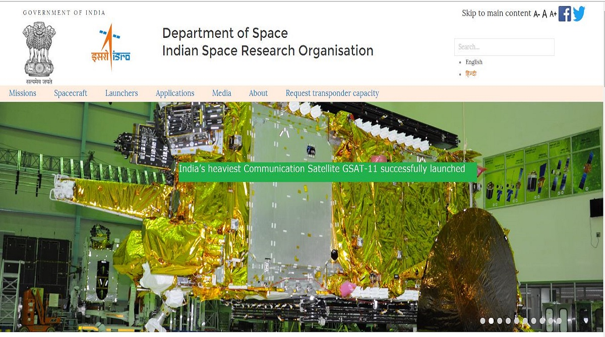 ISRO recruitment 2018, Scientist/Engineer posts