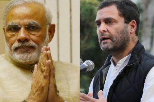 PM Modi, Rahul Gandhi meet at Parliament attack event after poll results, but no talks