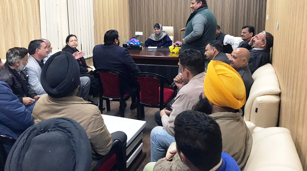 PDP holds meetings in Srinagar, PDP South Kashmir, Peoples Conference, Sajjad Lone, Mehbooba Mufti, National Conference, Abdul Rahman Veeri, Jammu and Kashmir