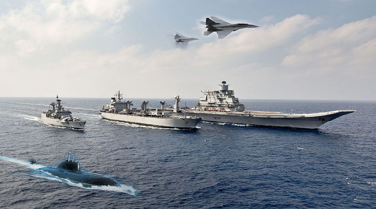 armed services, annual Navy Day, Admiral Sunil Lamba, Jammu and Kashmir, Rafale jets, South China Sea, aircraft carrier, Indian Navy