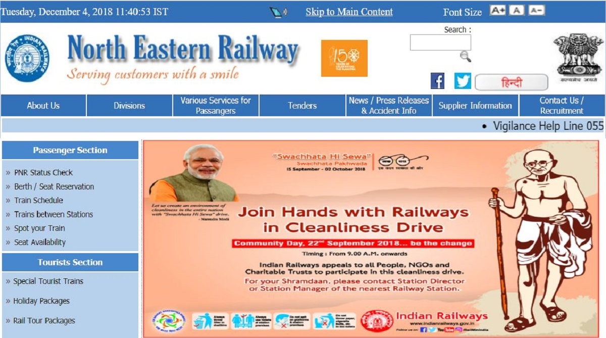 NER recruitment 2018, North Eastern Railway